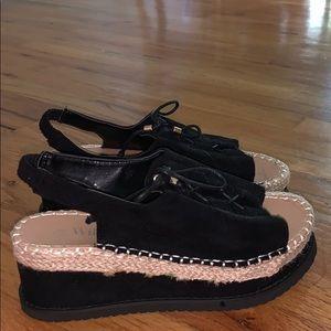 Platform sandals worn once